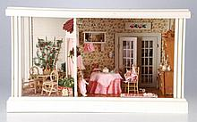 Vintage Doll House with Kitchen and Patio