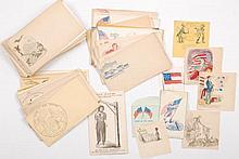 Over (70) Civil War Era Postal Cover Envelopes