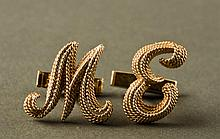 Milt Ebbins 14K Gold Cufflinks