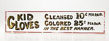 Kid Gloves Cleansed & Colored Retailer Trade Sign