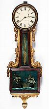 Federal Period Banjo Clock with Gilt Highlights