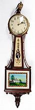 (20th c.) Waltham Watch Co. Mahogany Banjo Clock