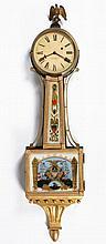 (19th c.) Weight Driven Walnut Banjo Clock
