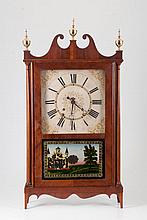 Mahogany Pillar & Scroll Shelf Clock c.1820
