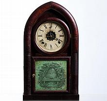 Waterbury Clock Co. Mahogany Gothic Shelf Clock