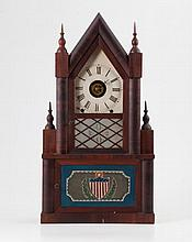 W.S. Johnson Steeple on Steeple Shelf Clock