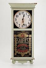 Gilbert Wall Clock w Sauer's Extract Advertisement