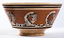 Mochaware London-Shape Earthworm Decorated Bowl