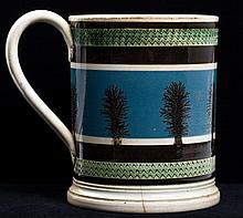 Large Mochaware Dendritic-Decorated Mug