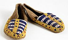 Pair of  Beaded Native American Child's Moccasins