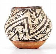 Antique Acoma Indian Pottery Container