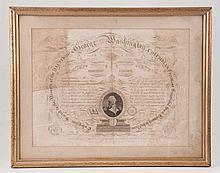 1817 Benjamin O Tyler Engraved Washington Memorial