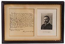 Henry Cabot Lodge Signed Handwritten Letter &Photo
