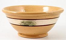 Yelloware Banded Mocha Mixing Bowl