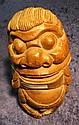 2. Carved wooden Figure of Lion Dog. 8