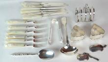 i) A Set of 12 Sterling Silver Fruit Knives and Forks