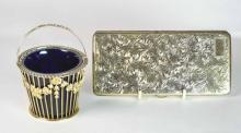 i) A 950 Silver Gilt Large Size Cigarette Case