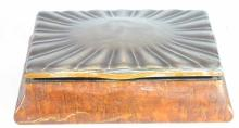 A Continental 925 Silver Lidded Cigar Box