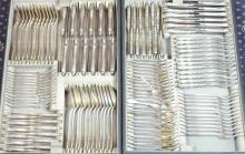An 800 Continental Silver (Setting for 12) 156pcs