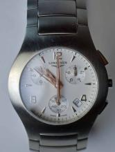 A Longines Oposition, Stainless Steel Gents Watch