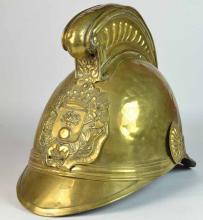 A Brass Merryweather Firemans Helmet