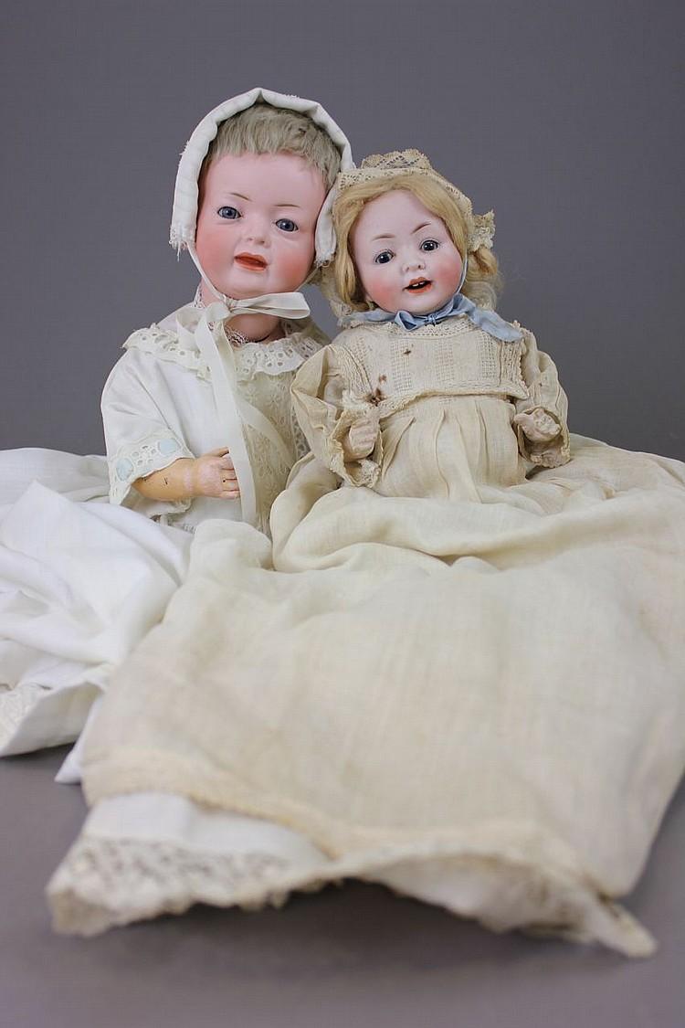(2) BISQUE HEAD CHARACTER BABIES