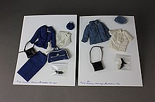 TWO BARBIE ENSEMBLES - PAN AMERICAN AIRWAYS STEWARDESS #1978 (1966) AND AMERICAN AIRLINES STEWARDESS #984 (1961-1964)