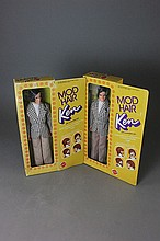 TWO MOD HAIR KEN DOLLS NRFB