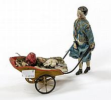 A 19TH CENTURY AUTOMATON, modelled with a young