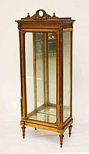 A FRENCH GILT VITRINE, early 20th century, the