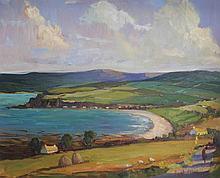 HUGH O'NEILL (B.1959), West Coast of Ireland, oil