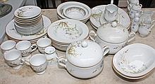 A FINE NORITAKE IRISH PORCELAIN TEA AND DINNER SERVICE, comprising six larg