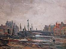 W. GREAVES (PROBABLY WALTER GREAVES 1846-1930), Busy Harbour Scene, O.O.B.,