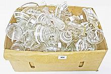A LARGE QUANTITY OF MISCELLANEOUS DOMESTRIC DRINKING GLASSES, a large box l