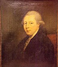 IRISH SCHOOL (C.1780),  Portrait of a Gentleman, Half length seated, O.