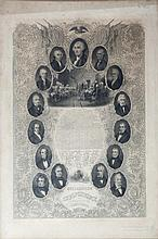 THE DECLARATION OF INDEPENDENCE AND PORTRAITS OF THE PRESIDENTS,  Black