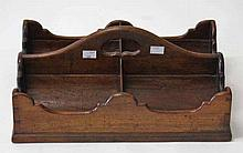 A GEORGE III PERIOD MAHOGANY WINE BOTTLE CARRIER  with four compartment