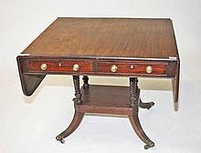 AN IRISH MAHOGANY AND ROSEWOOD BANDED SOFA TABLE,  early 19th century ,