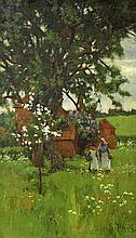 SAMUAL PARR, N.S.A (EXH. 1886-1921),  Spring Time, with Figures by Farm
