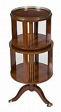 A VERY ATTRACTIVE THREE TIER INLAID SATINWOOD REVOLVING DUMBWAITER,  or
