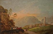 ATTRIBUTED TO WILLIAM SADDLER II,  Mountainous Irish Landscape, with Fi