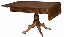 A REGENCY PERIOD MAHOGANY INLAID AND ROSEWOOD BANDED SOFA TABLE,  Proba