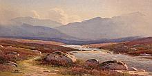 GEORGE DRUMMOND FISH (1876-1938)  West of Ireland Mountainous River Lan