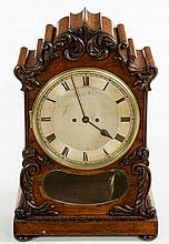 A LARGE 19TH CENTURY GRAINED ROSEWOOD BRACKET CLOCK,  by Viner & Co. Lo