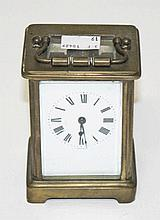 A FIVE GLASS BRASS CARRIAGE CLOCK,  distributed by John Wanamaker New Y