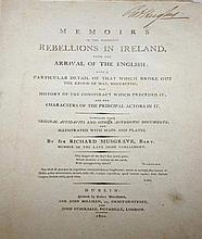 MUSGRAVE, [SIR RICHARD BART],  Memoirs of the Different Rebellion in Ir