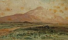 ROWLAND HILL (1915-1979),  Errigal Mountain, Co. Donegal, W.C, signed a