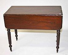 19TH CENTURY MAHOGANY DROP LEAF PEMBROKE TABLE,  with two oblong flaps,