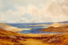 GEORGE DRUMMOND-FISH (IRISH, 1876-1938), watercolour landscape, West of Ire