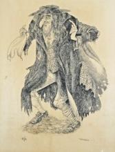 ROWEL BOYD FRIERS R.U.A. (1920-1998), Fagin from Oliver Twist, pen and ink